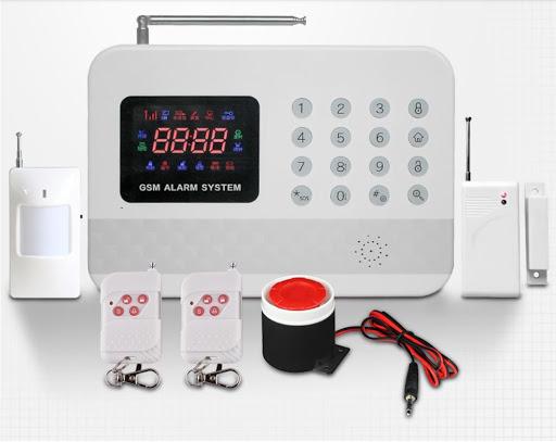 Système Alarme Sécurité Maison GSM VOCAL FRANCAISE Auto-appel+Détecteur Fumée